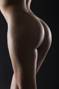 woman with curvy uplifted buttocks