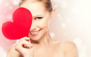 valentines day woman smiling
