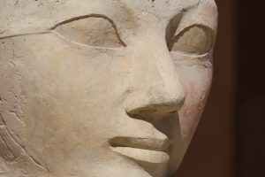 Face sculpture of Queen Hatshepsut at Luxor, Egypt