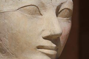 Face sculpture of Queen Hatshepsut at Luxor, Egypt